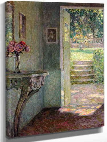The Garden Door, The Console By Henri Le Sidaner By Henri Le Sidaner