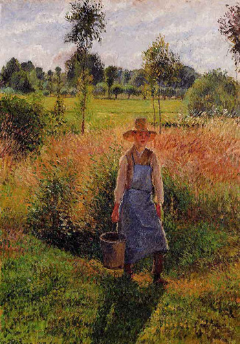 The Gardener, Afternoon Sun, Eragny By Camille Pissarro