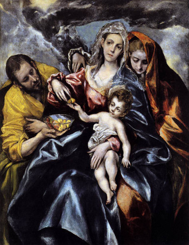 The Holy Family With St Mary Magdalen By El Greco By El Greco