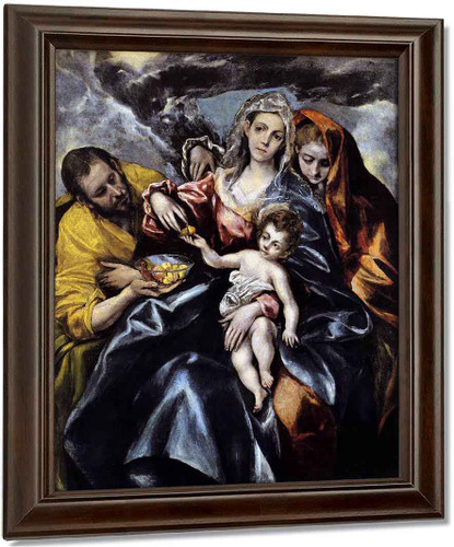 The Holy Family With St Mary Magdalen By El Greco
