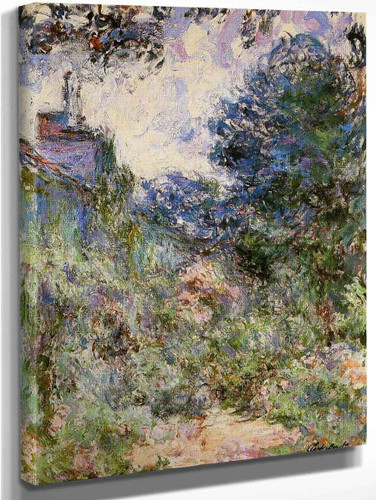 The House Seen From The Rose Garden2 By Claude Oscar Monet