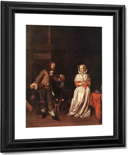 The Hunter And A Woman By Gabriel Metsu