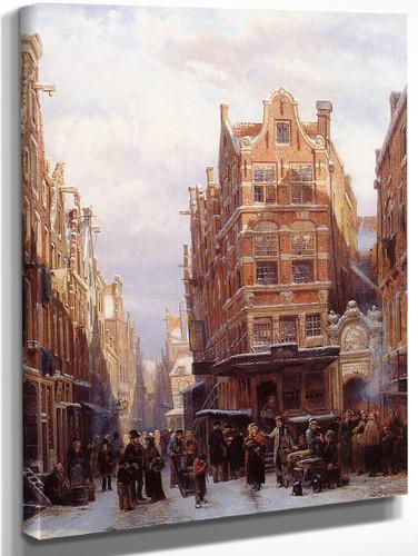 The Jewish Quarter In Amsterdam By Cornelius Springer