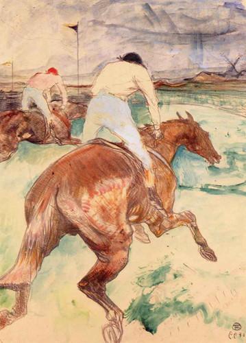The Jockey  By Henri De Toulouse Lautrec