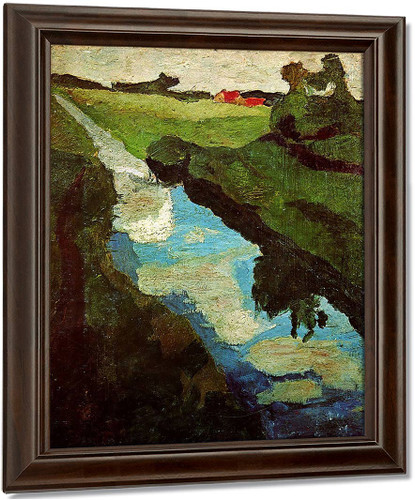 The Moor By Paula Modersohn Becker Oil on Canvas Reproduction