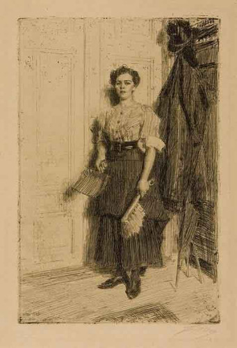 The New Maid By Anders Zorn