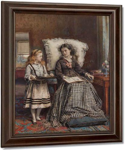 The Nursemaid By George Goodwin Kilburne