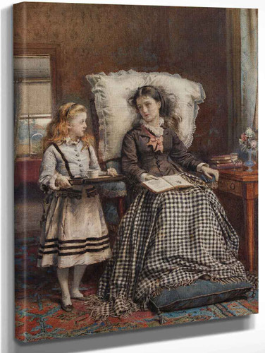 The Nursemaid By George Goodwin Kilburne By George Goodwin Kilburne