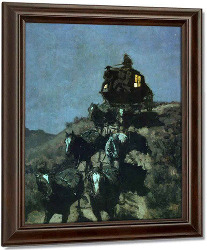 The Old Stage Coach Of The Plains By Frederic Remington