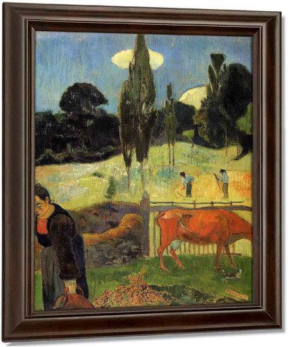 The Red Cow By Paul Gauguin