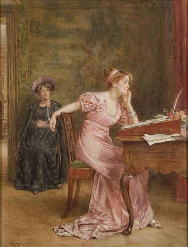 The Response By George Goodwin Kilburne By George Goodwin Kilburne