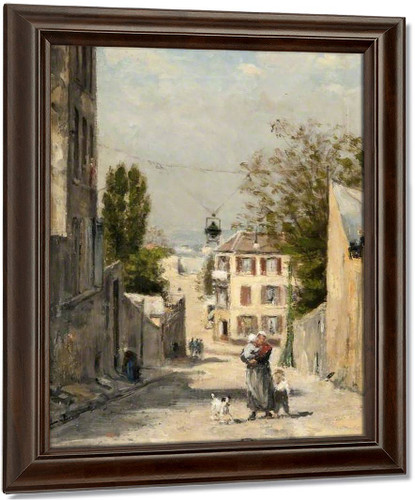 The Rue De Norvins, Montmartre By Stanislas Lepine