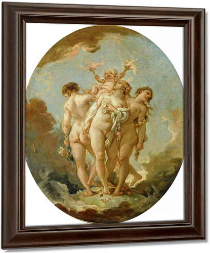 The Three Graces By Francois Boucher