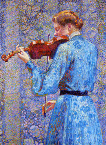 The Violinist By Jose Maria Velasco