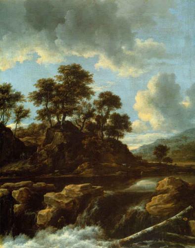 The Waterfall By Jacob Van Ruisdael