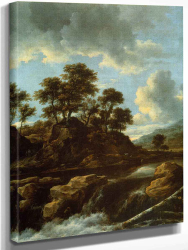 The Waterfall By Jacob Van Ruisdael