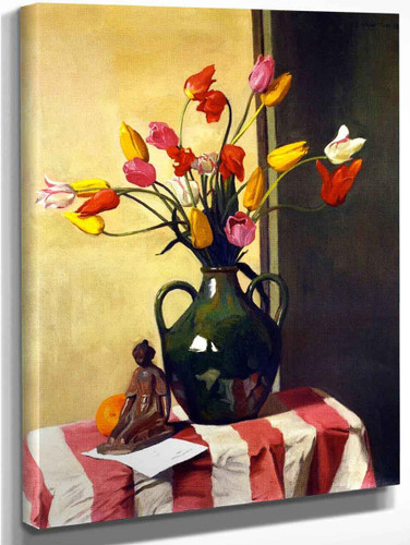 Tulips And A Statuette By Maillol By Felix Vallotton