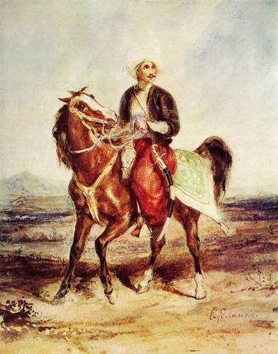 Turkish Horseman By Eugene Delacroix By Eugene Delacroix