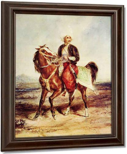 Turkish Horseman By Eugene Delacroix