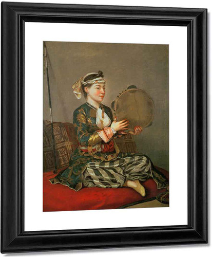 Turkish Woman With A Tambourine By Jean Etienne Liotard