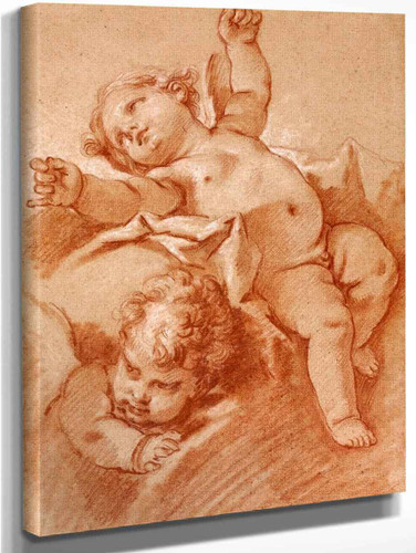 Two Putti By Francois Boucher