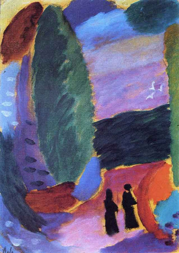 Variation Two Figures In Autumn By Alexei Jawlensky By Alexei Jawlensky