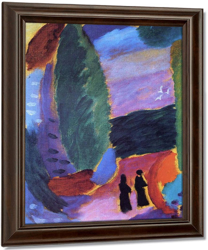 Variation Two Figures In Autumn By Alexei Jawlensky