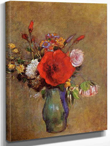 Vase Of Flowers1 By Odilon Redon
