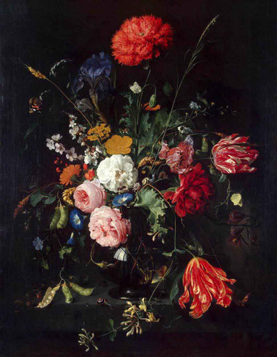 Vase Of Flowers By Jan Davidszoon De Heem By Jan Davidszoon De Heem