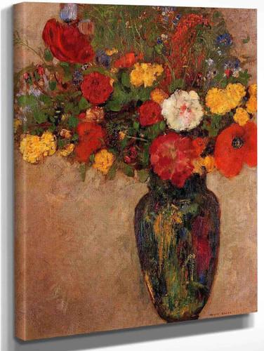 Vase Of Flowers By Odilon Redon
