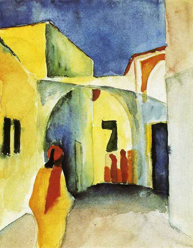 View Of An Alley By August Macke
