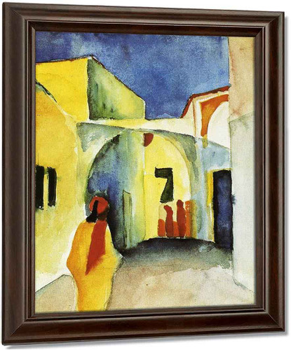 View Of An Alley By August Macke Oil on Canvas Reproduction
