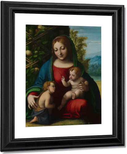 Virgin And Child With The Young Saint John The Baptist By Correggio By Correggio