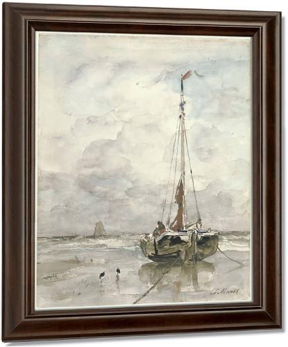 Visserspink Aan Het Strand By Jacob Henricus Maris