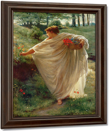 Wild Blossoms By Sir Edward John Poynter Oil on Canvas Reproduction