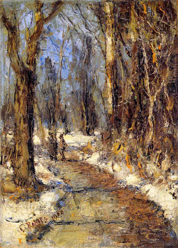 Winter Landscape By Christian Rohlfs