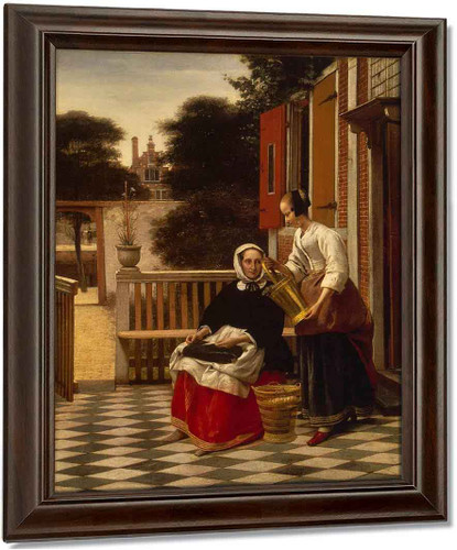 Woman And Maid By Pieter De Hooch