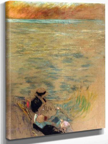 Woman By The Sea By Edouard Vuillard