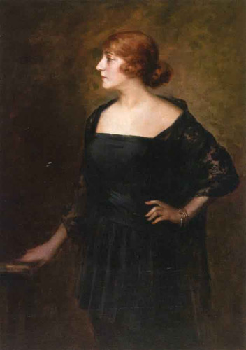 Woman In A Black Dress By Anders Zorn