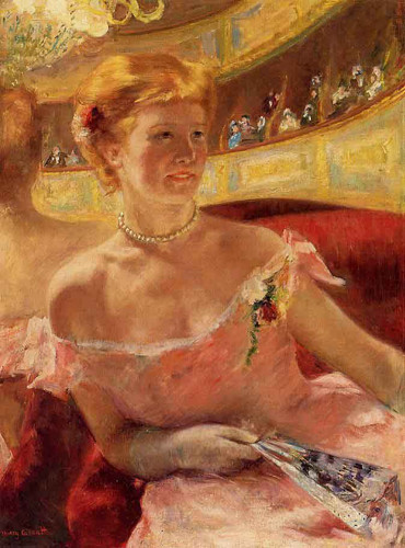 Woman In A Loge By Mary Cassatt