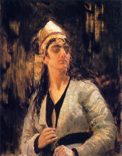 Woman With A Dagger By Ilia Efimovich Repin