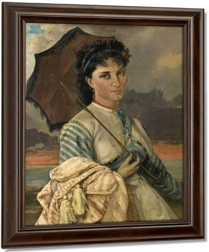 Woman With A Parasol By Gustave Courbet