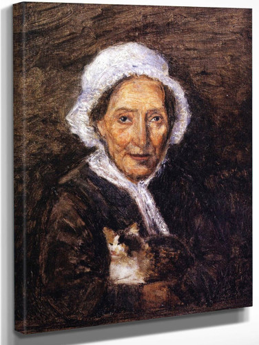 Woman With Cat By Stanislas Lepine
