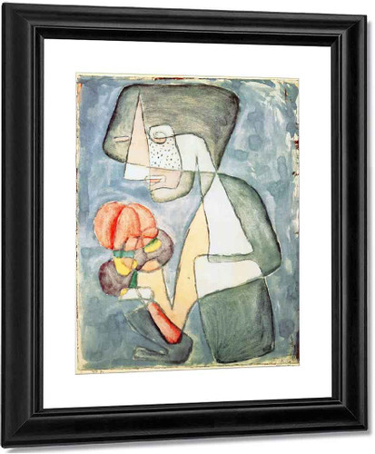 Woman With Tomato By Paul Klee