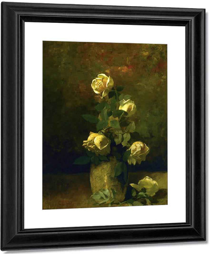 Yellow Roses In A Vase By Charles Ethan Porter