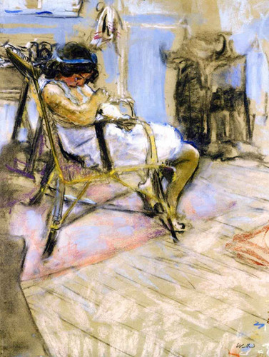 Young Girl In The Studio At Boulevard Malesherbes By Edouard Vuillard