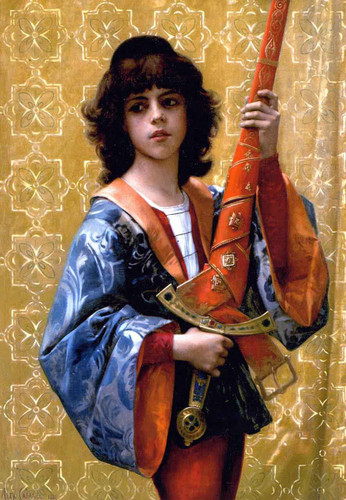 Young Page In Florentine Garg By Alexandre Cabanel