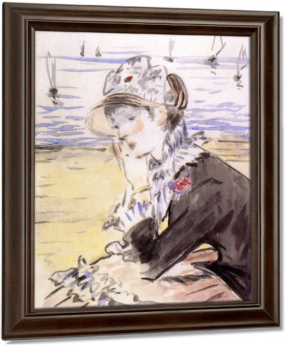 Young Woman By The Sea By Edouard Manet
