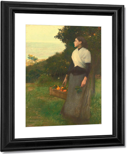 Young Woman In The Orange Garden By Pascal Dagnan Bouveret