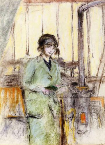 Young Woman Standing In The Studio By Edouard Vuillard